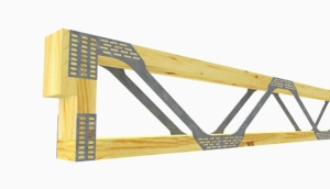 Posi-Joist wooden and metal beam